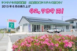 甲府営業所 太陽光発電システム 売電状況 6月