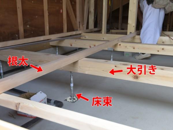 床の構造 リフォーム スケルトン