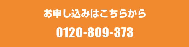 お申込みは 0120-809-373